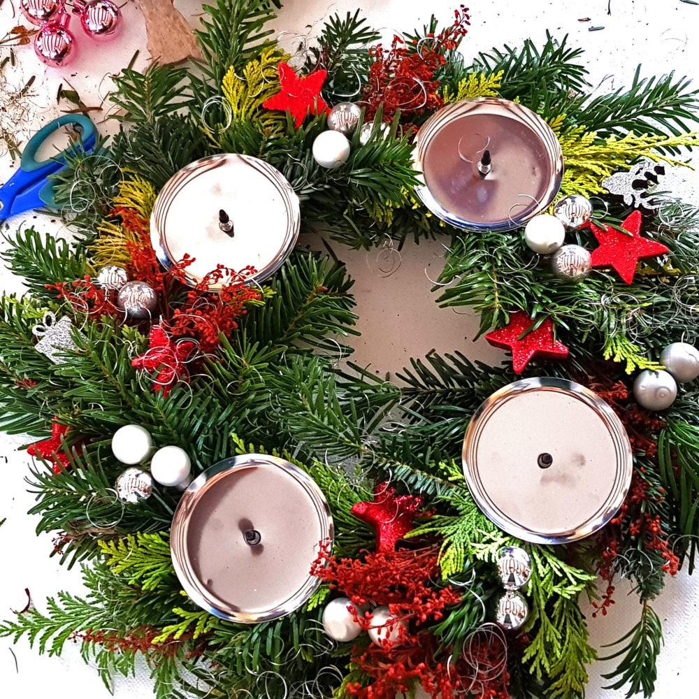 Workshop Adventskranz Weihnachten Mädelsabend Dresden Moritzburg