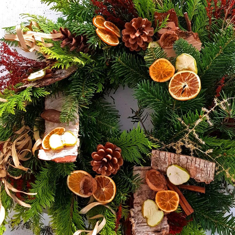 Workshop Weihnachtskranz Tischdeko Mädelsabend Dresden Moritzburg