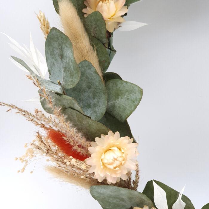 Bastelset Boho Kranz basteln Blumen Deko