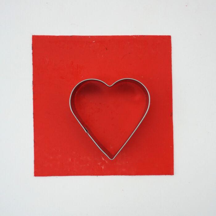 Wachsplatten Ausstechform Herz