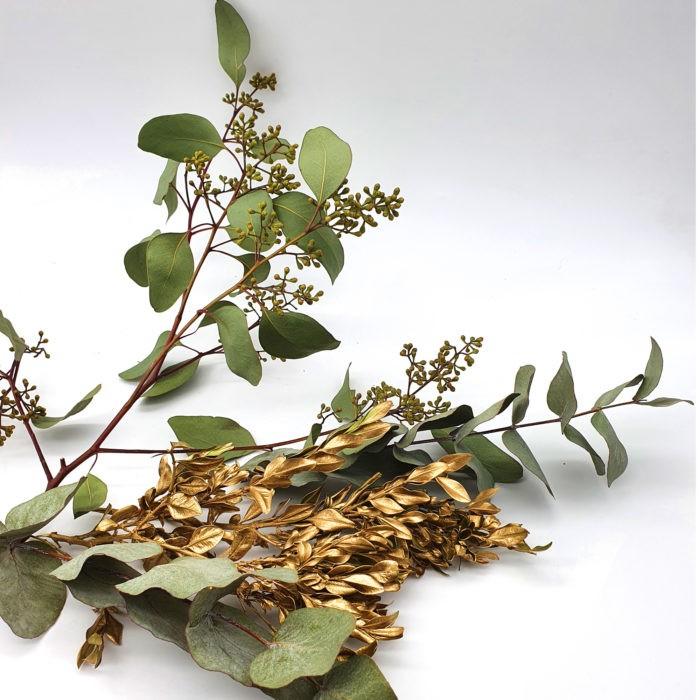 DIY Bastelset Eukalyptuskranz Gold