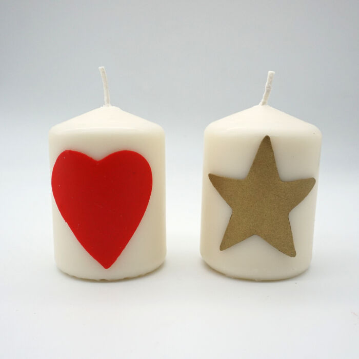 Bastelset Kerzen verzieren mit Wachsplatten