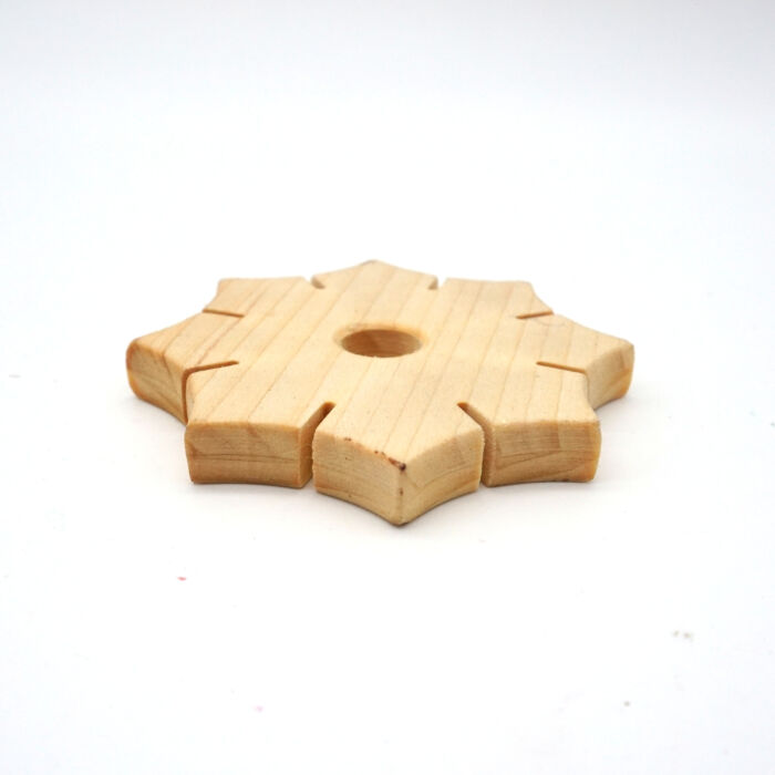 Knüpfstern aus Holz