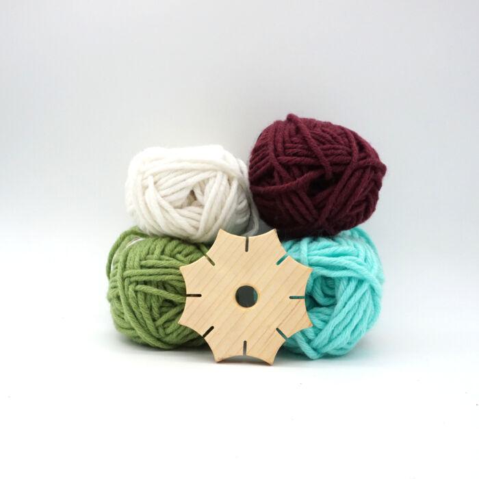 Knüpfstern mit Wolle