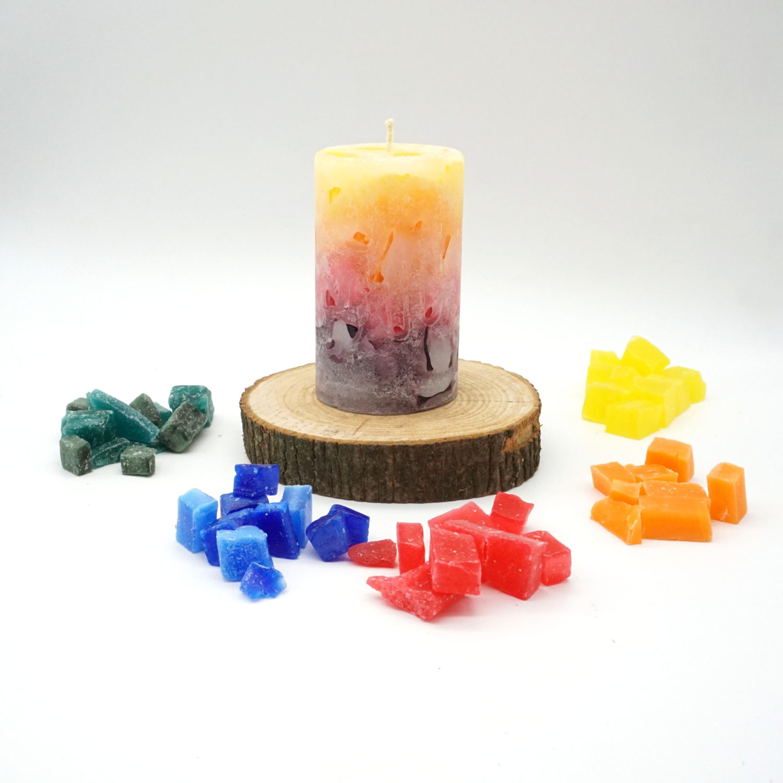 Wachswürfel zum Kerzen gestalten / Kerzen Gießen