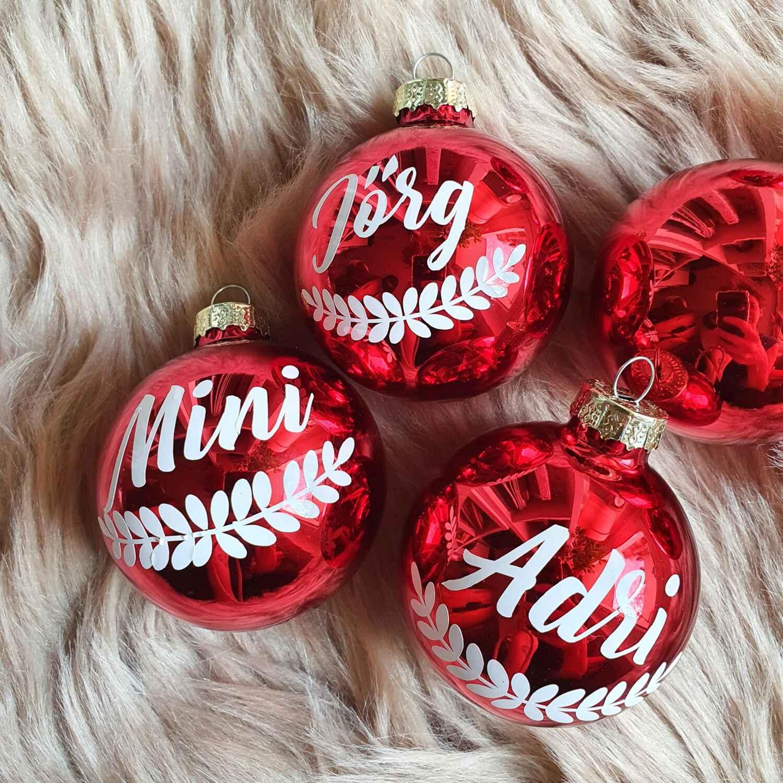 Weihnachtskugel mit Wunschnamen personalisiert ∅ 6cm