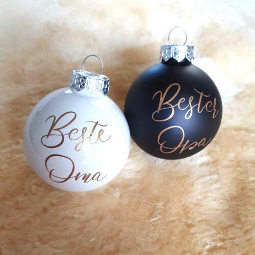 Weihnachtskugeln personalisiert mit Namen Geschenk Opa