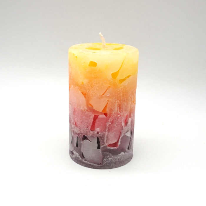 Cracker Kerze aus Wachswürfeln handgemacht