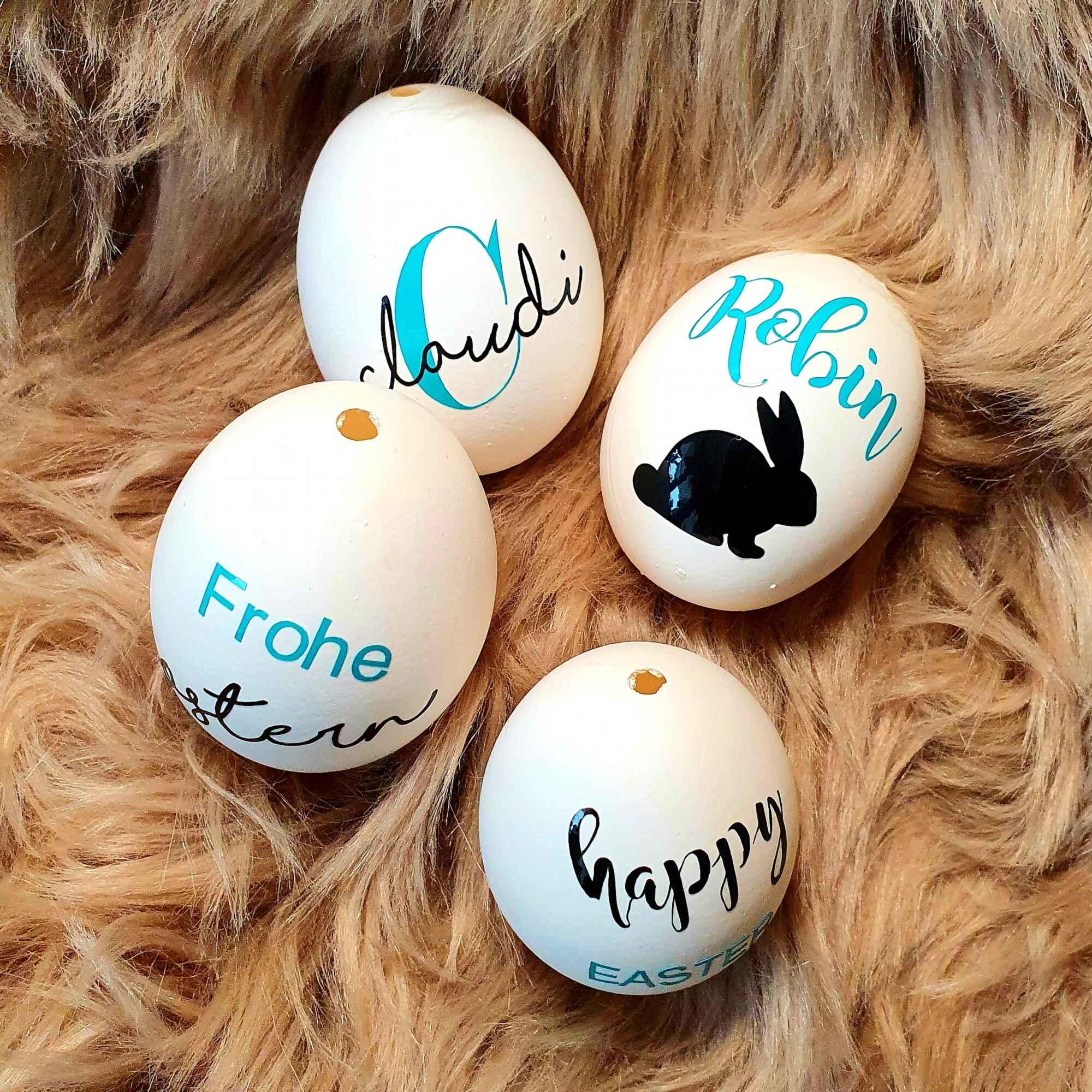Echtes Hühnerei - Personalisierte Ostereier mit Namen verschenken