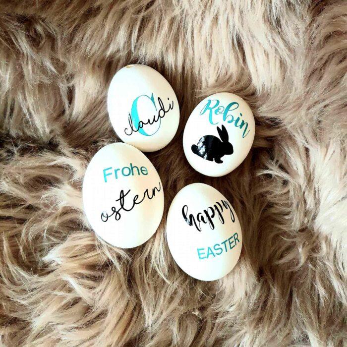 Echtes Hüühnerei - Personalisierte Ostereier mit Namen verschenken