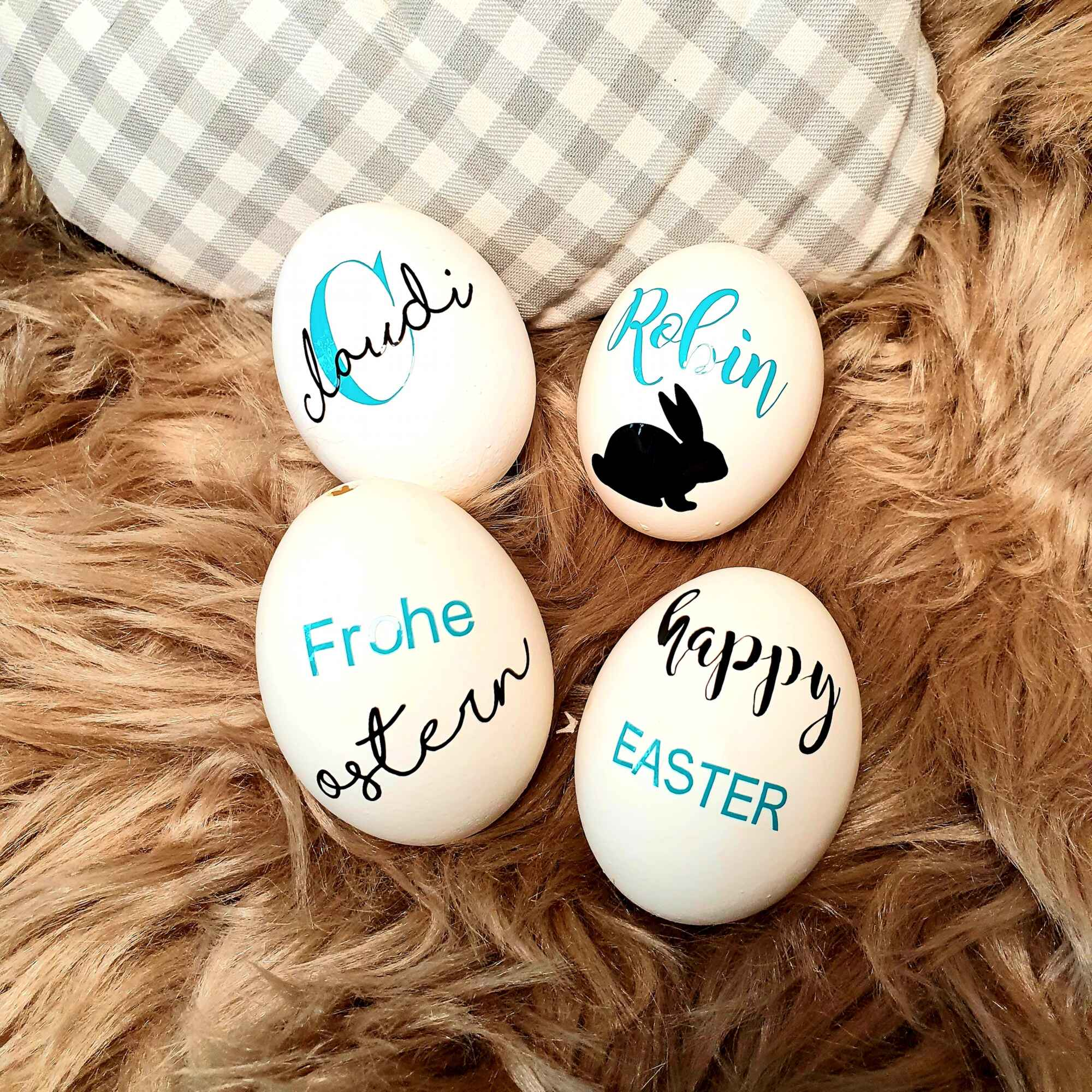 Echtes Hüühnerei - Personalisierte Ostereier verschenken