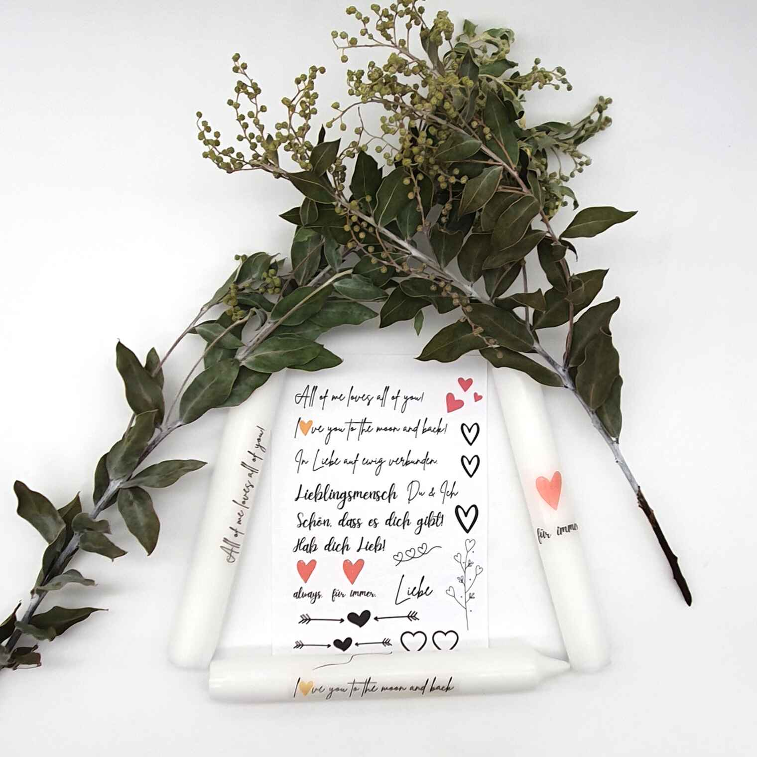 Kerzen verschenken DIY Set Liebe