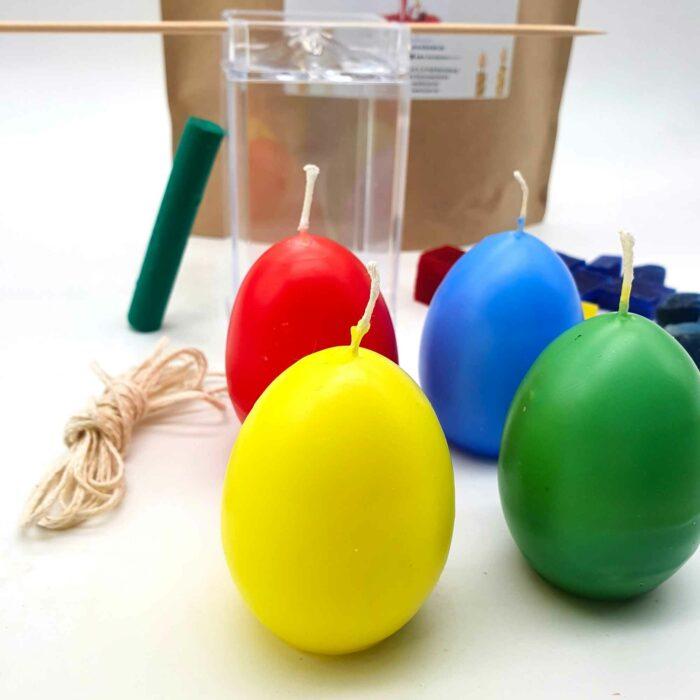 Bastelset Eierkerzen tauchen und gießen zu Ostern