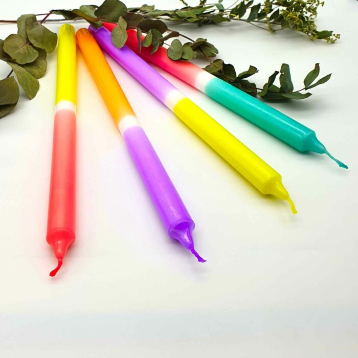Dip Dye Kerzen lang