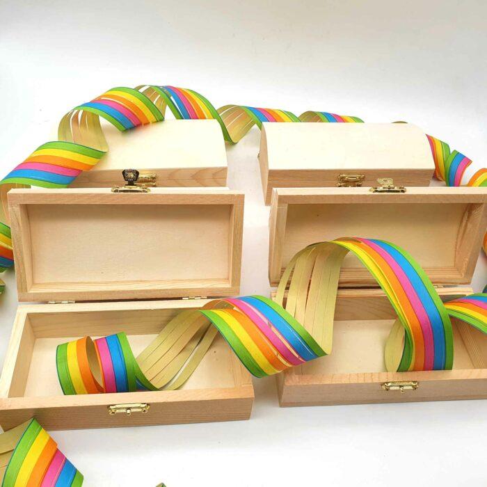 Holz Schatzkisten - Basteln mit Naturmaterialien