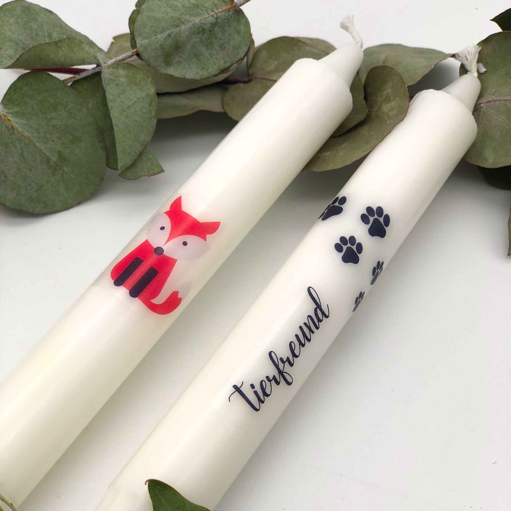 Kerzen verzieren Bastelset Tierfreund