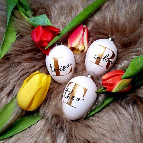 Osterei mit Namen zu Ostern