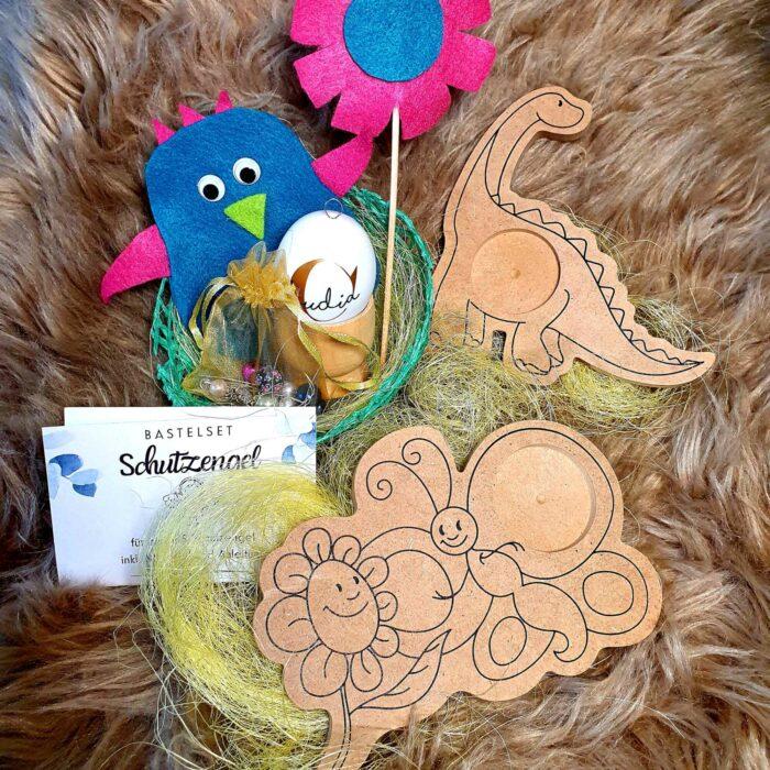 Osterkörbchen für Kinder - Bastelset Übersicht
