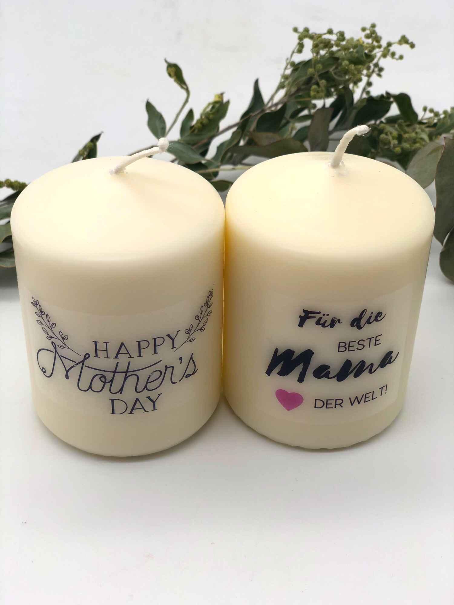 Muttertagskerze Geschenk zum Muttertag Bastelset