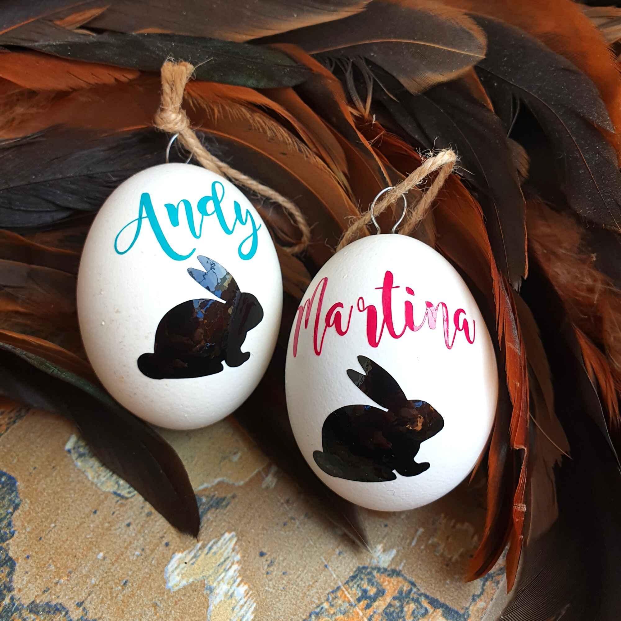 Osterei personalisiert Ostergeschenk aufgehangen Osternest